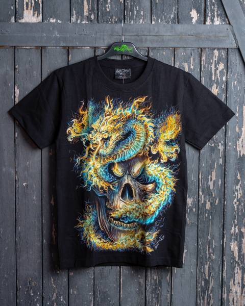 Тениска DRAGON SPIRIT SKULL - GR-595