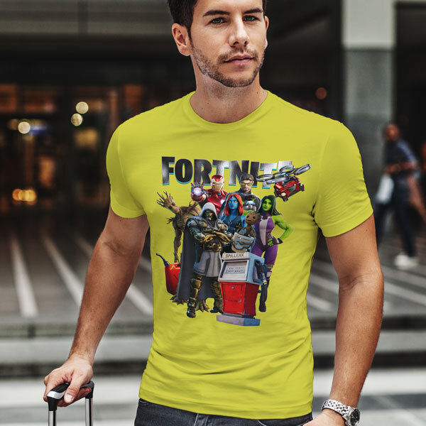 Тениска Fortnite Chapter 2 Season 4 - Doctor Doom, Mystique, Groot