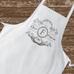 Персонална готварска престилка с твоето име и инициал