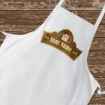 Персонална готварска престилка с твоето име