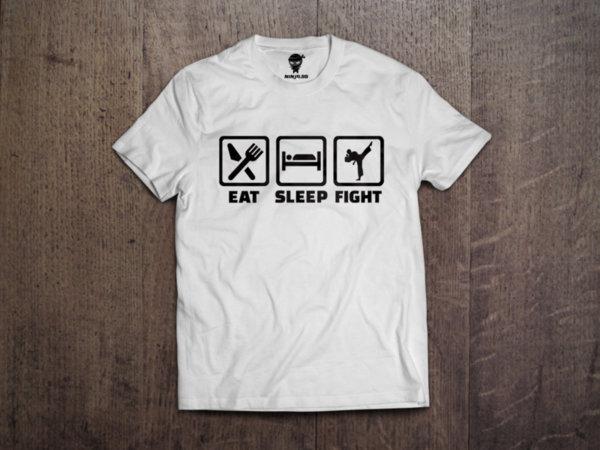 Ninja Тениска - Карате - Eat Sleep Fight
