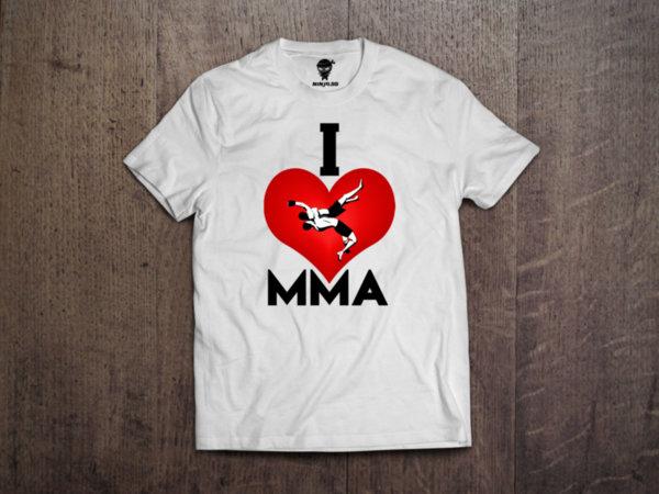 Ninja Тениска - ММА - I love MMA