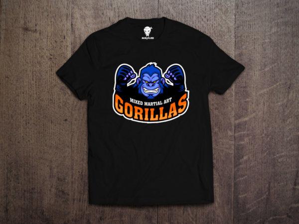 Ninja Тениска - ММА - Gorillas
