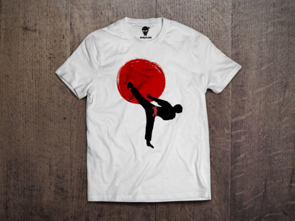 Ninja Тениска - Карате - Red sun