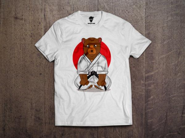 Ninja Тениска - Карате - Мечка