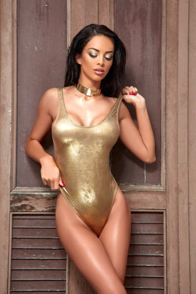 WHOLE SWIMWEAR GOLD