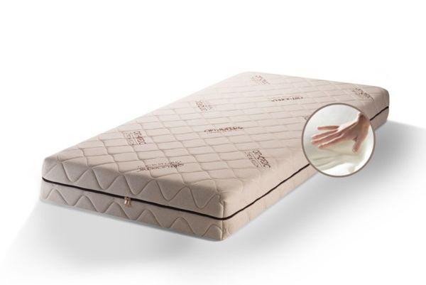 Луксозен ортопедичен матрак с Лен – двулицев, цип, 20см, Medico Plus Linen Organic Memory