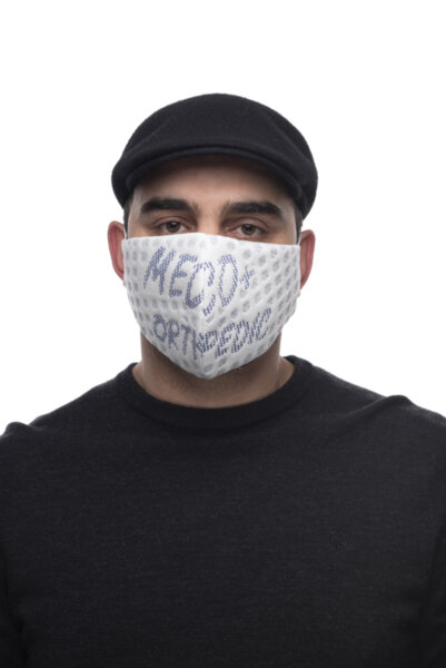 Предпазна маска за лице Medico Silver Care Blue, трислойна, със сребърни йони