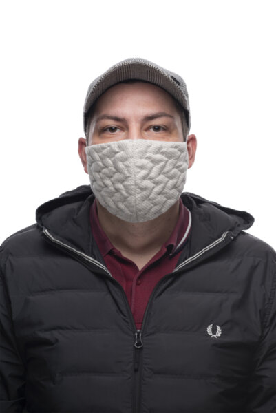 Предпазна маска за лице Medico Hemp, трислойна, с органичен коноп