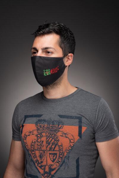 Предпазна маска за лице Medico Help, трислойна, черна