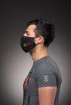 Предпазна маска за лице Medico, трислойна, черна-Copy