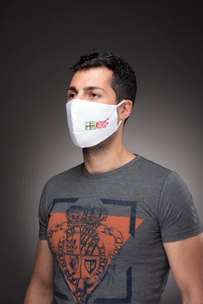 Предпазна маска за лице Medico Help, трислойна, бяла