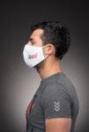 Предпазна маска за лице Medico, трислойна, бяла-Copy