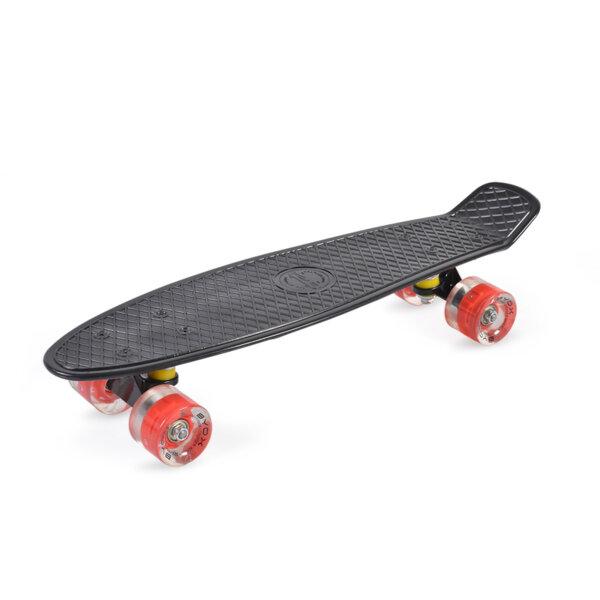 "Скейтборд Spice LED 22"" черен Byox Пениборд"