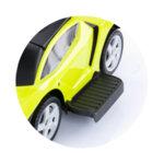 Кола с дръжка/сенник Lamborghini зелена