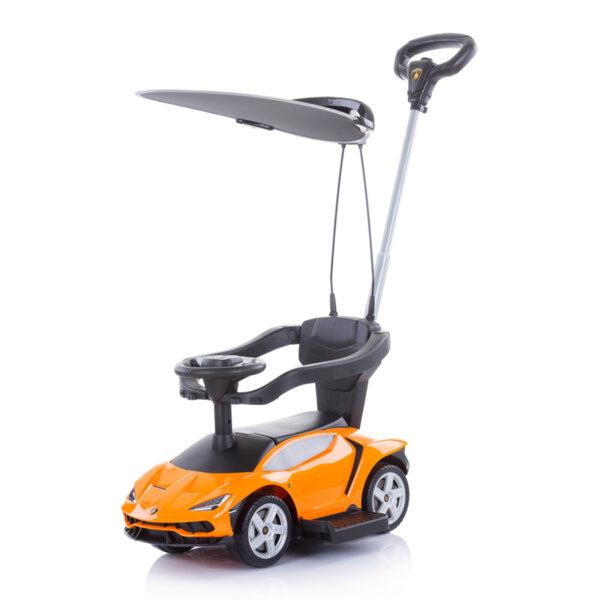 Кола с дръжка/сенник Lamborghini оранжева