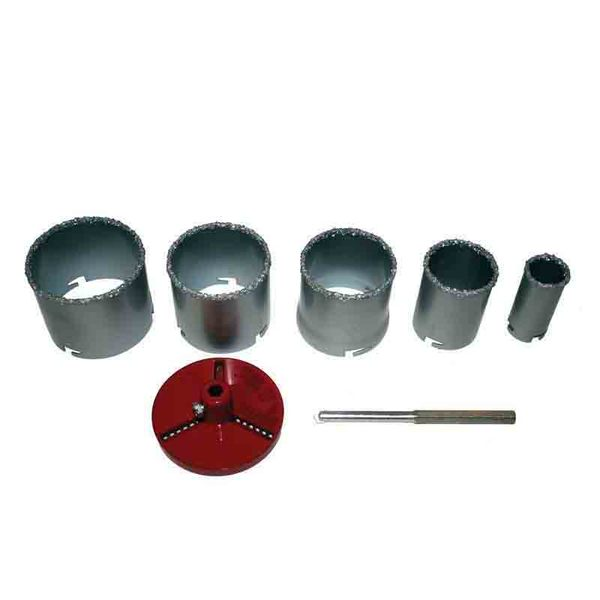 Боркорони за керамични плочки ø33-83mm, 7 части комплект RAIDER