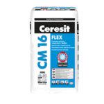 Гъвкаво лепило за плочки на закрито и открито Ceresit CM 16 FLEX Fibre Force 25 кг