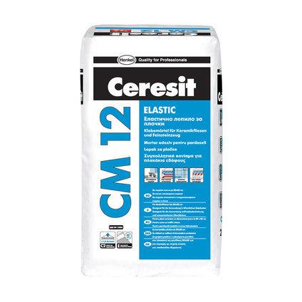 Еластично лепило за плочки Ceresit CM 12 Flex Бяло