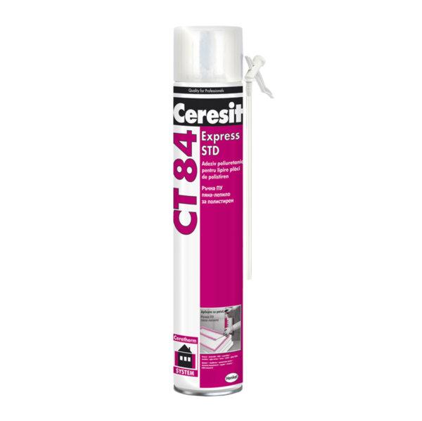 Ръчна ПУ пяна-лепило за плочи от полистирен Ceresit CT 84 Express Straw