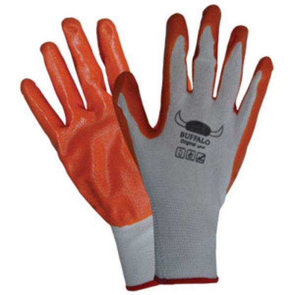 Ръкавици топени в нитрил, оранжеви BUFFALO DECOREXPREDPAZN