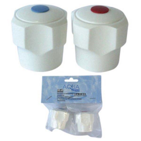Ръкохватка за смесител / ситен шлиц / 2бр. комплект Abs бяла