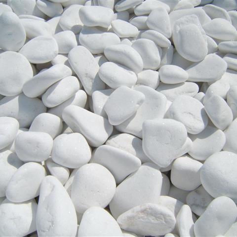 Декоративни камъчета бели, Sansi, 2-4 см - 25 кг