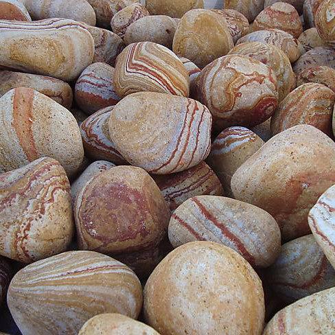 Декоративни камъчета дъга, 4-6 см - 25 кг
