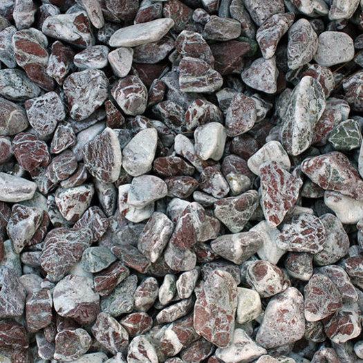 Декоративни камъчета червени, Атлас, 2-4 см - 25 кг