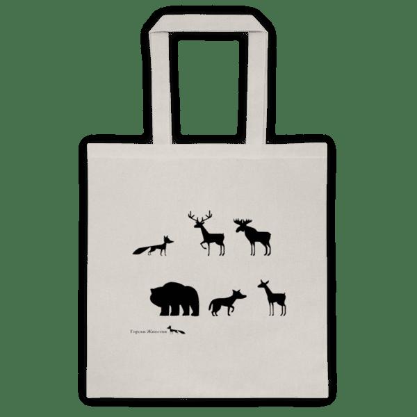 Памучна еко чанта Горски Животни
