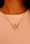 Колие Молекула на шоколада (Теобромин)
