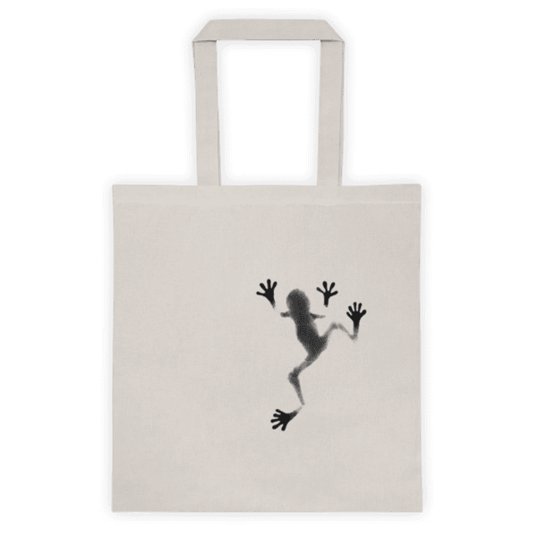 Памучна еко чанта Жаба върху Листо