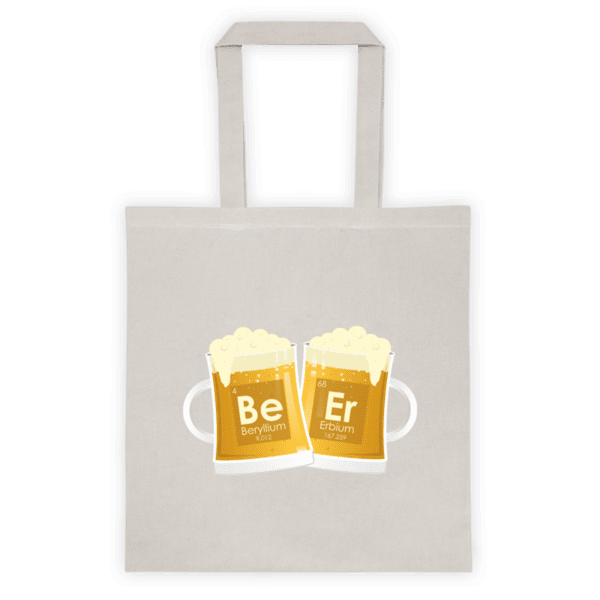 """Памучна еко чанта """"Бира"""" и химични елементи"""