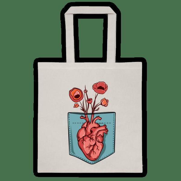 Памучна еко чанта Сърце В Джоба