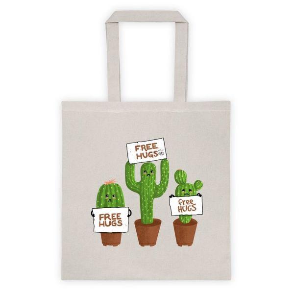 Памучна еко чанта Безплатни Прегръдки