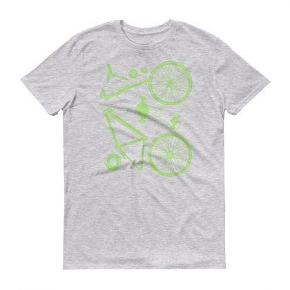 """Мъжка Тениска """"На Части"""": S - Сива"""