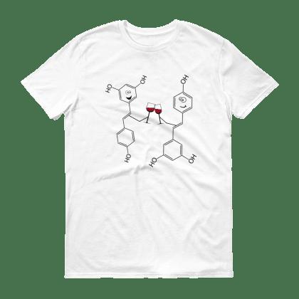 """Мъжка тениска """"Наздраве!"""": М, Бяла"""