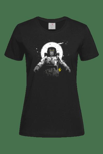 Дамска Тениска Маймуна Космонавт