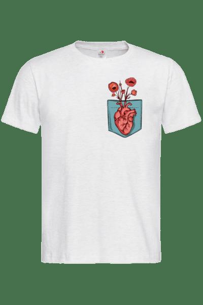 Мъжка Тениска Сърце в Джоба
