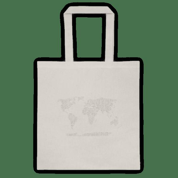 Памучна еко чанта Бинарни Континенти