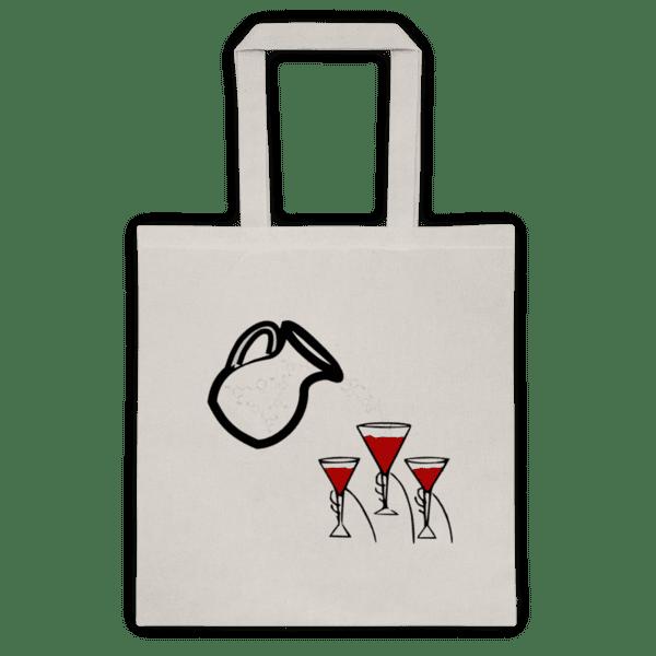 Памучна еко чанта Червено Вино