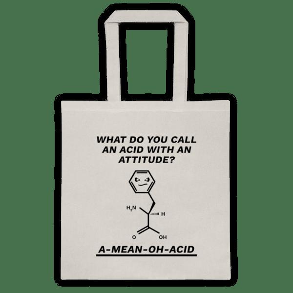 """Памучна еко чанта """"Аминокиселина"""""""