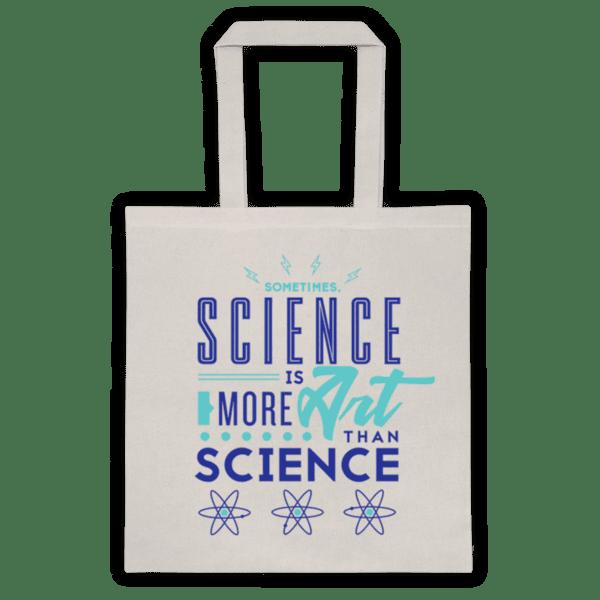 "Памучна еко чанта ""Science is art"""