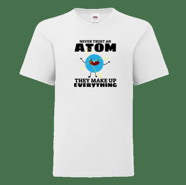 "Детска тениска ""Never trust an atom"""