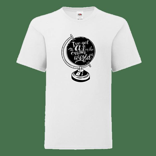 """Детска тениска """"Влюбен/влюбена в света"""""""