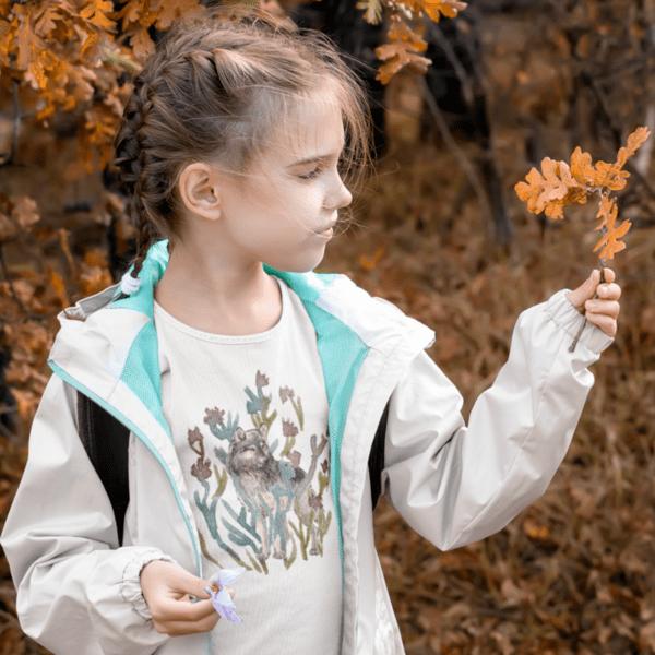 """Детска тениска """"Вълк сред цветята"""""""