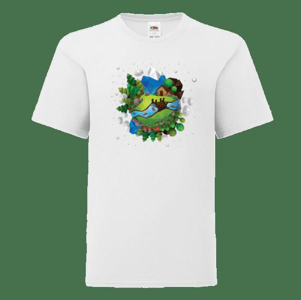 """Детска тениска """"Геометрична Земя"""""""
