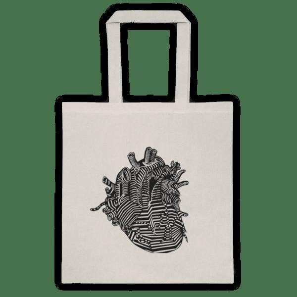 """Памучна еко чанта """"Анатомично сърце"""""""