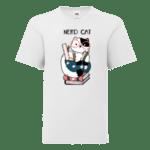 "Детска тениска ""Котка зубър"""