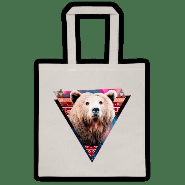 """Памучна еко чанта """"Хипстър мечок"""""""